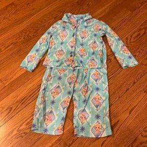 Disney Elsa flannel pajamas size 6